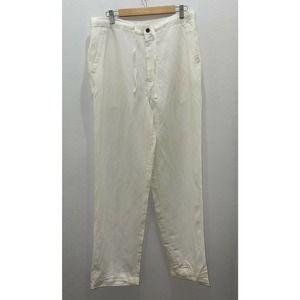 Cubavera Pants Mens Large Ivory Linen Blend